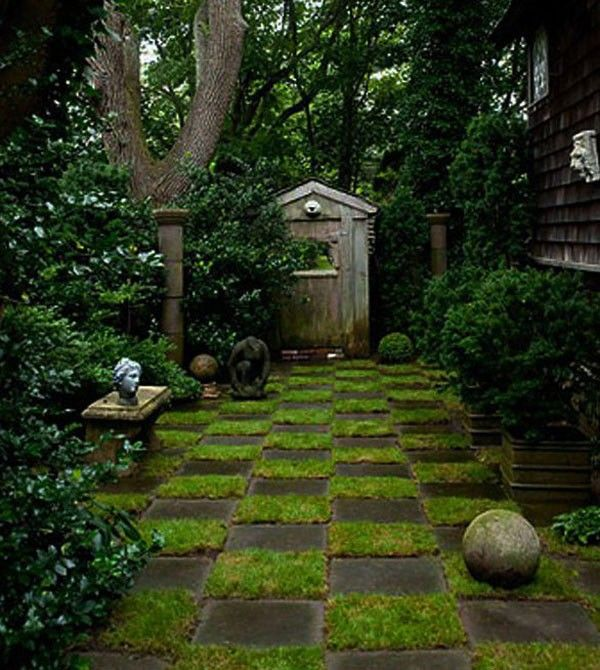 Caminos de jard n una alternativa moderna for Ajedrea de jardin