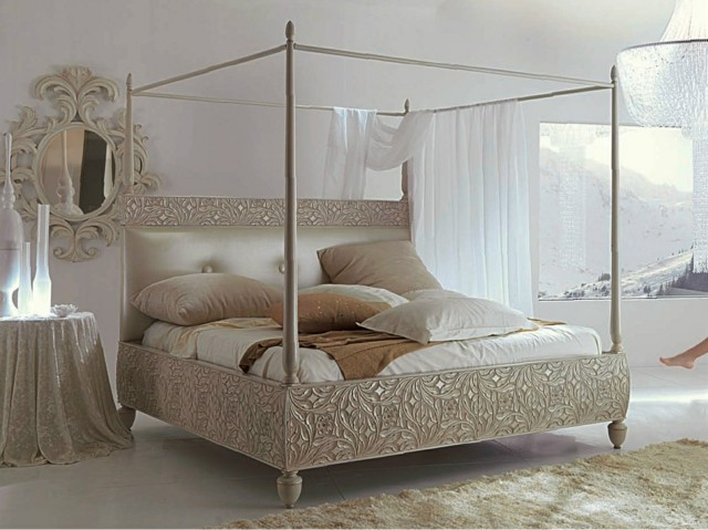 Matrimonio Rustico Rustico : Dormitorios matrimonio con camas dosel