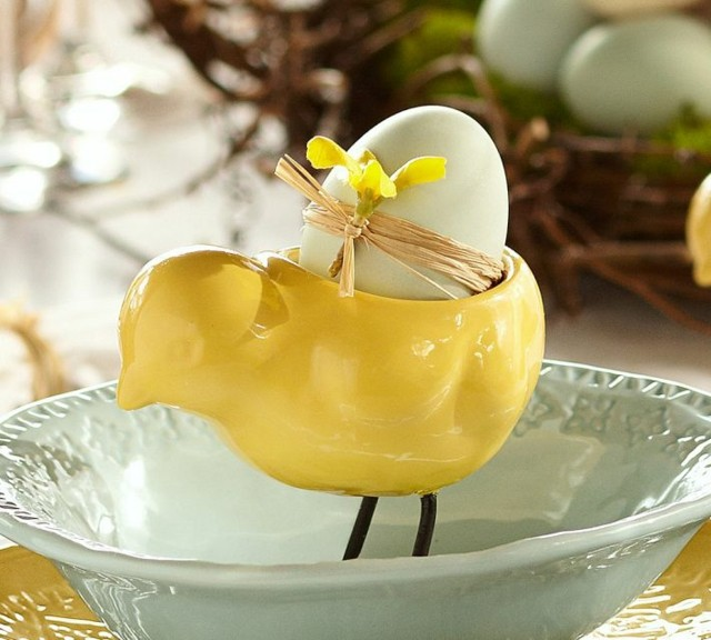 huevo pascua plato cinta canasta