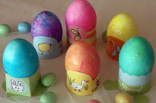 huevos de pascua animales colores pintados