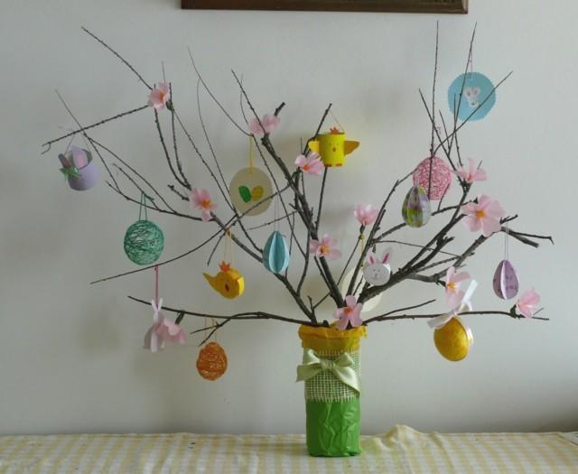 huevos de pascua arbol manualidad huevos