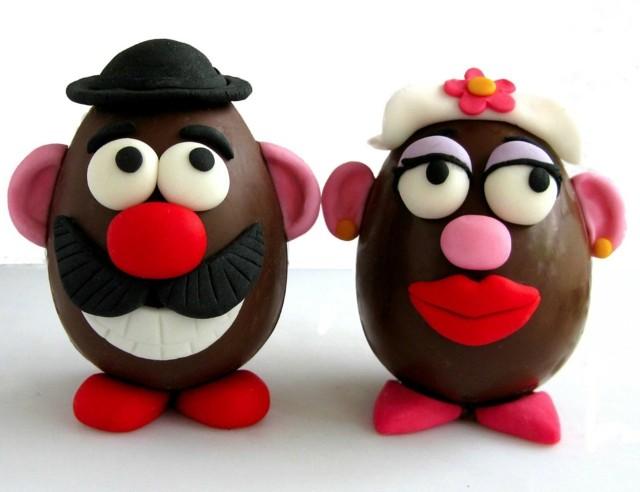 huevos de pascua chocolate personajes celebracion