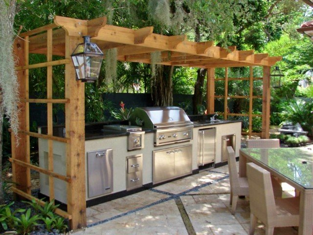 idea cocina exterior muebles acero perfecta