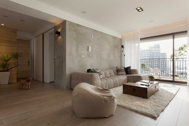 idea exelente salon moderno colores beige pared diseño muebles