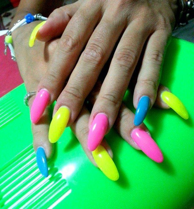 Lujo Las Uñas De Color Azul Eléctrico Galería - Ideas de Pintar de ...