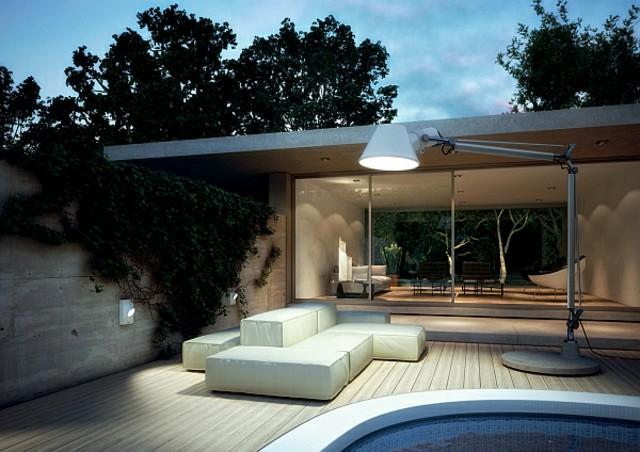 idea innovadora lampara grande jardin iluminación exterior