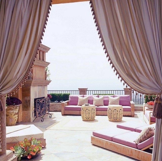 idea porche fabulosa marroqui opulente rosa