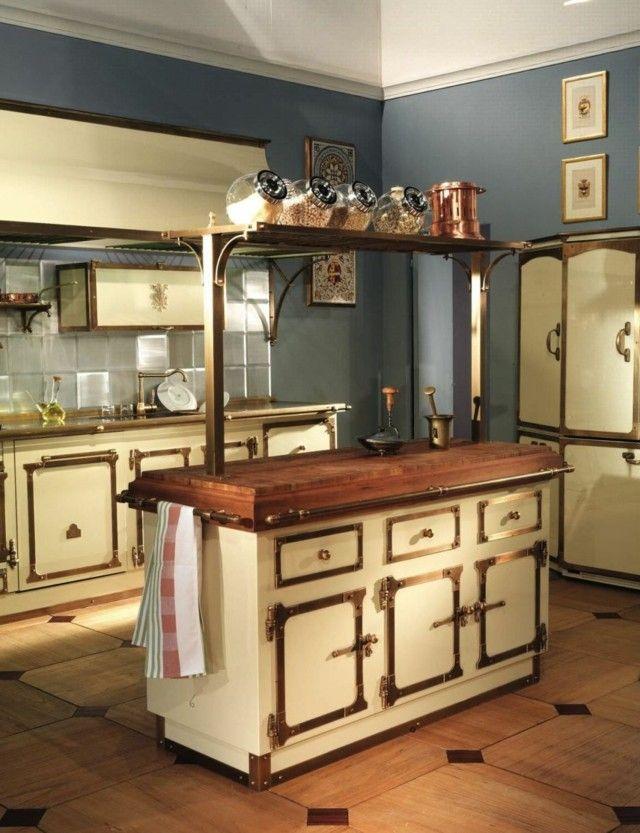 idea sensacional cocina vintage isla marron retro