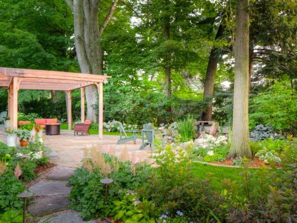 Paisajes bonitos al estilo minimalista o contemporaneo for Decoracion jardin grande