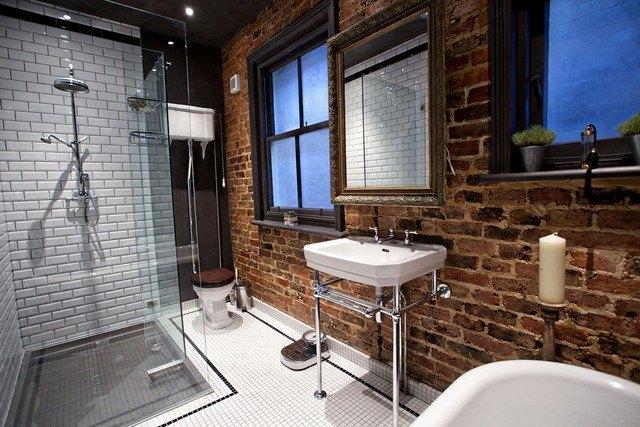 ideas ladrillo estilo rustico casa moderna baño
