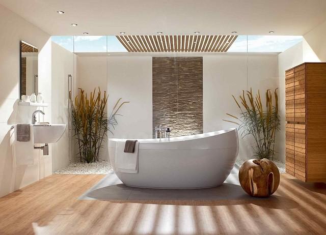 ideas moderna baño estilo amplio flores luminoso