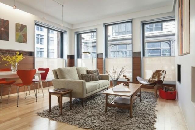 ideas muebles innovadores alfombra moderno marron