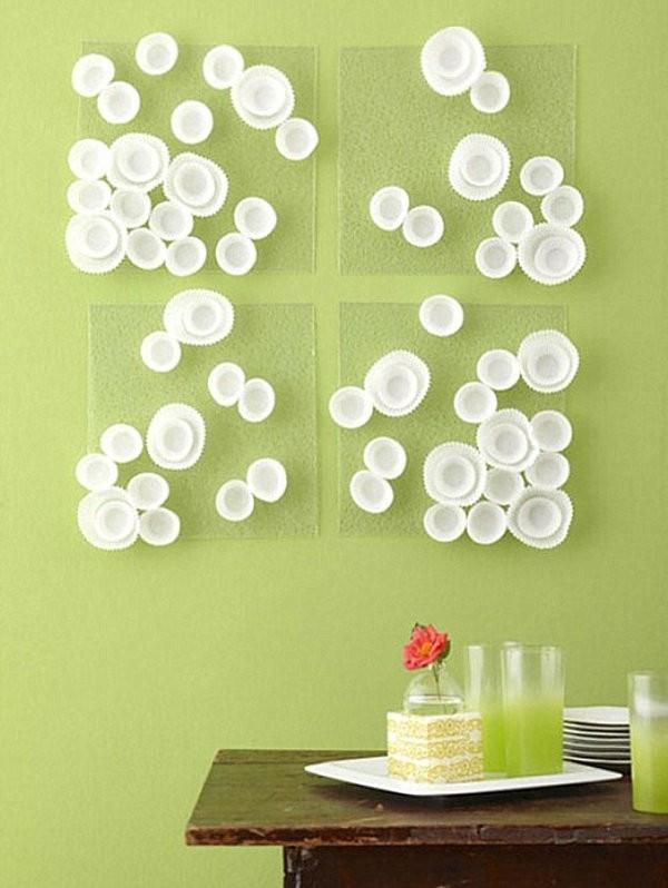 ideas para decorar paredes envoltorios magdalenas