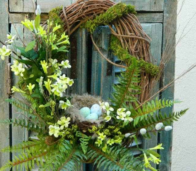 ideas pascua interesante decorar huevos puerta bonito