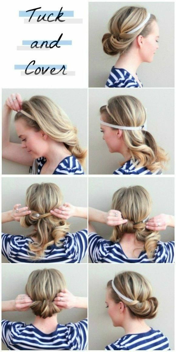 Peinados rapidos con diademas o lazos