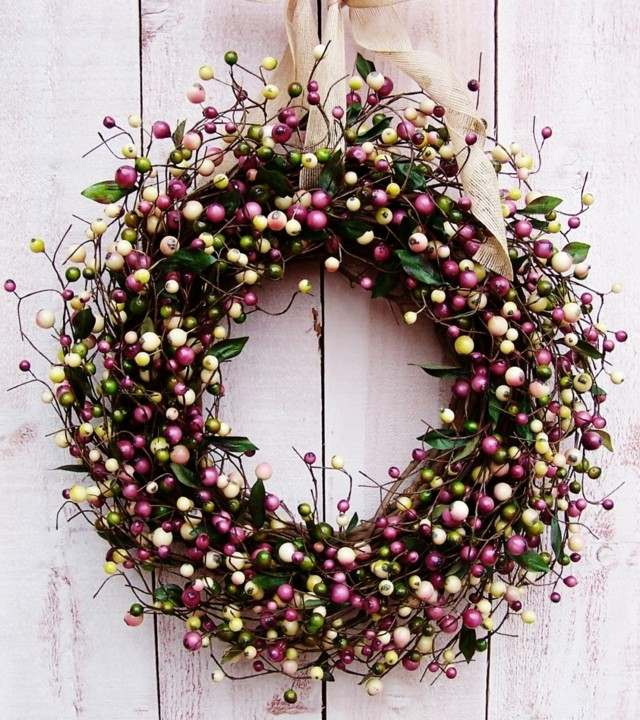 ideas purpura pelotitas interesante bonito primavera puerta