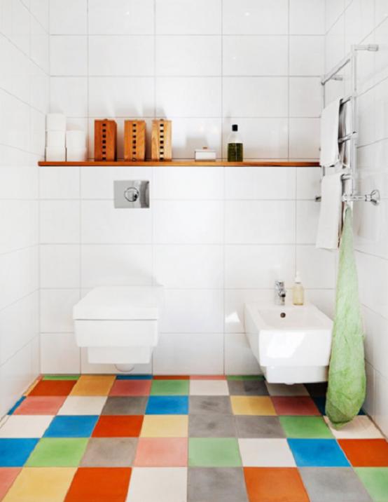 iluminacion baño moderno multicolor iluminado
