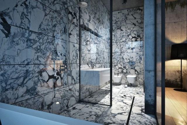 ingenioso diseño moderno baño precioso marmol alta calidad