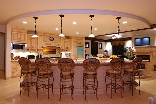 innovadora estilo divino isla cocina diseño sillas