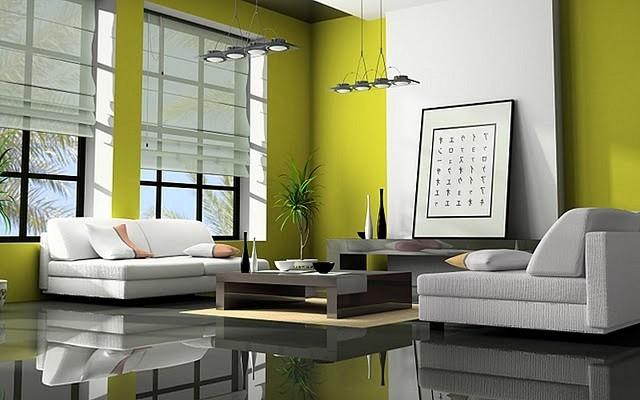 inspiracion zen salon amplio bonito verde