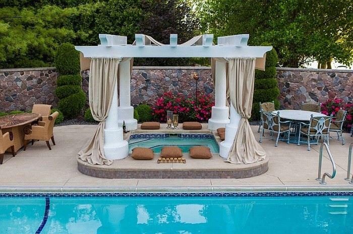 jacuzzi aire libre fabuloso cerca piscina espacio