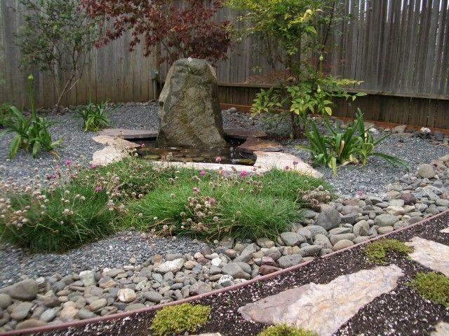 jardín rocas meditacion flores zen estanque rocas meditacion flores