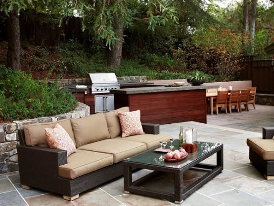jardin cocina plantas moderna exterior