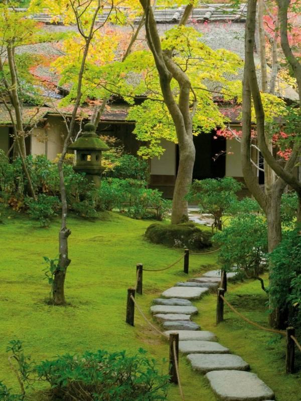 jardin contemporaneo zen minimalista cesped bonito