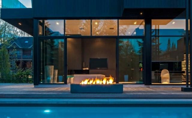 jardin exterior moderno piscina