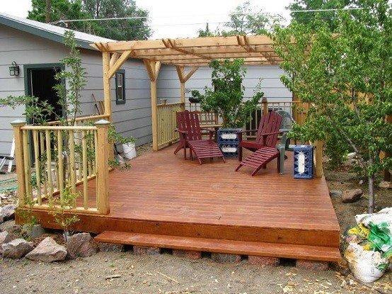 jardin madera muebles techado exterior tumbona