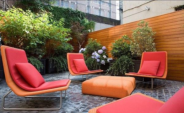 jardin terraza patio muebles cojines