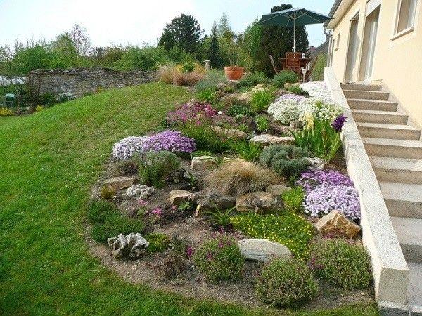 jardinería en pendientes flores jardin macetas