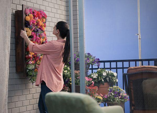jardines verticales interior flores colorido parle