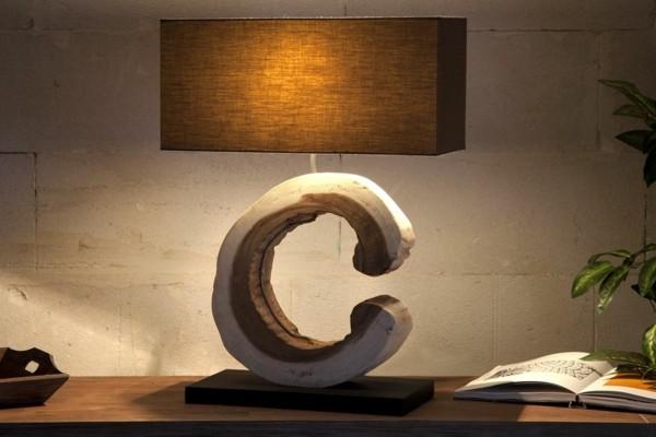 lámpara de madera flotante recortada