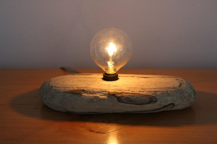 L mparas con pantallas originales fabricadas en casa - Lamparas de mesa originales ...