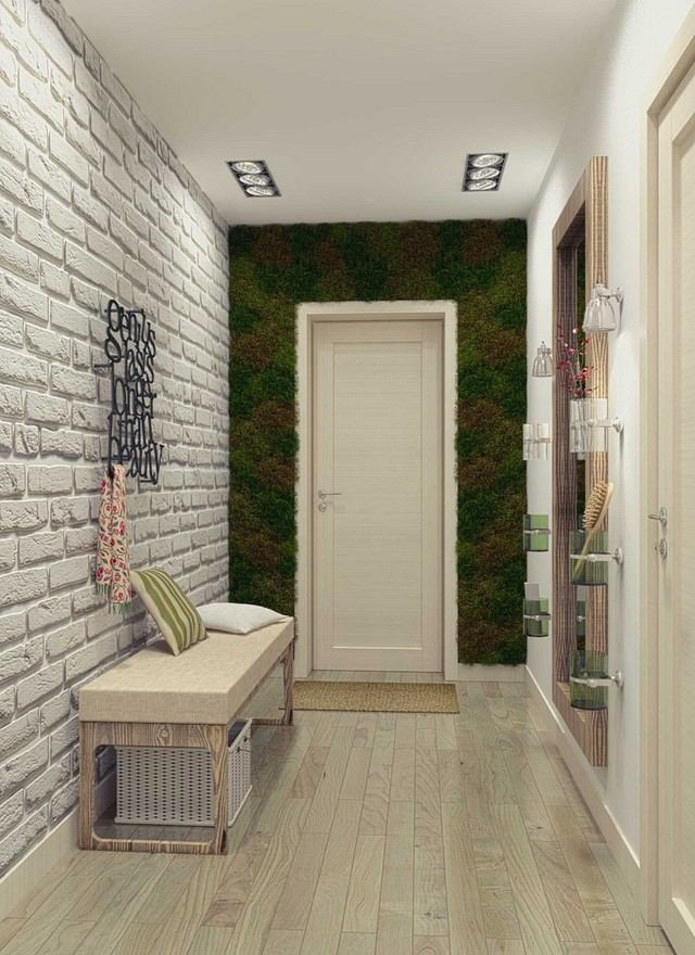 ladrillo blanco idea entrada casa bonita moderna