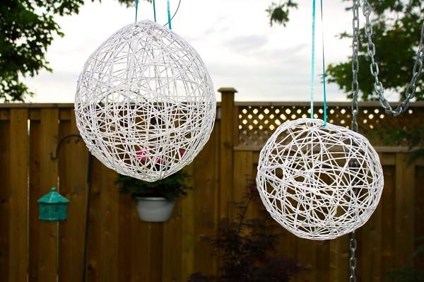 lamparas colgantes blancas faroles jardin