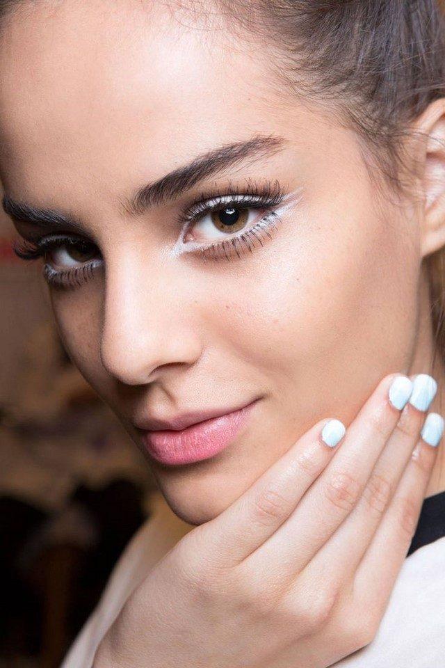 lapiz blanco moderno primavera ojos moderno maquillaje