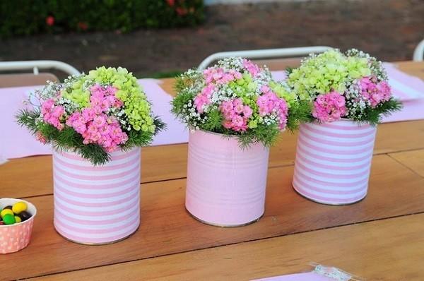 latas papel rosa decoracion conservas rosadas