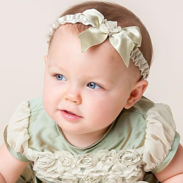lazo raso verde bebé