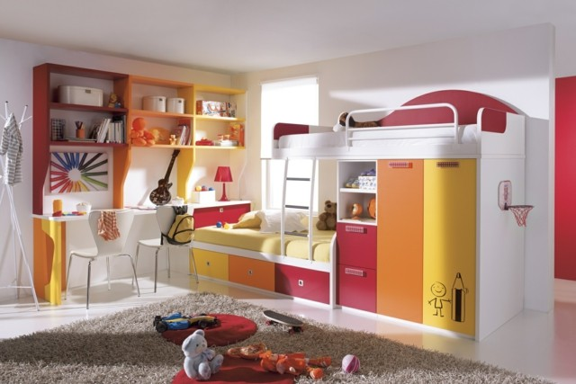 literas armarios moderna empotrados escalera interesante naranja