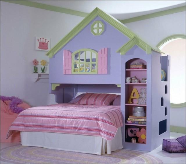 literas infantiles chicas moderna casita juego cama