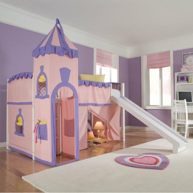literas infantiles palacio princesa rosa moderna diversion