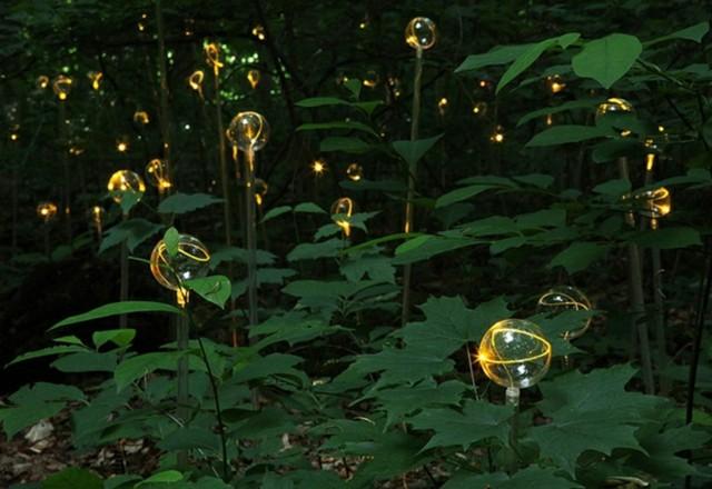 luces bolas jardin originales amarillas