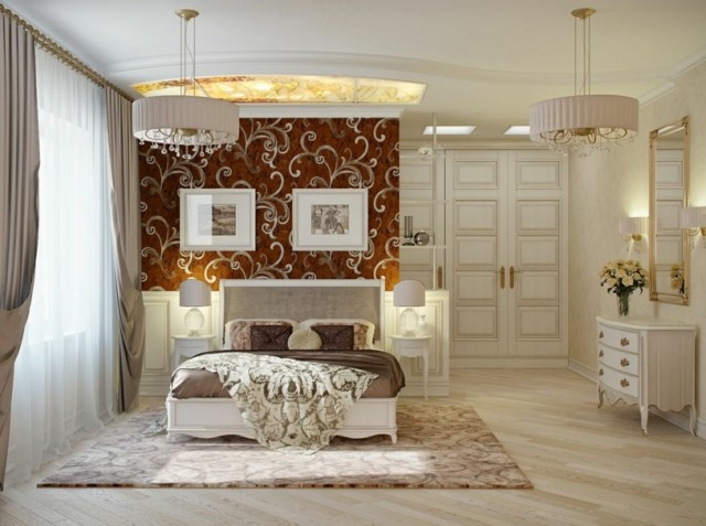 lujosa habitacion decoracion muebles clasico