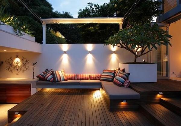 luminaria plataforma madera moderno iluminacion