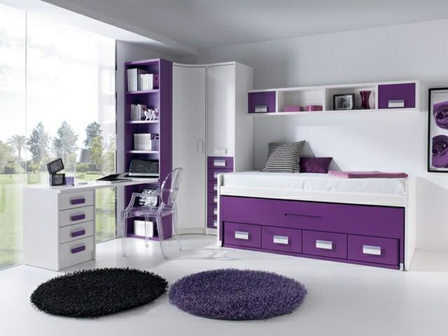 juveniles luminoso purpura blanco ventanal moderno
