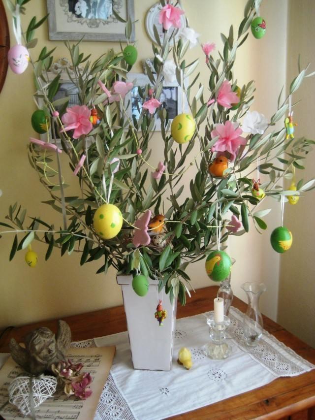 maceta huevos fiesta pascua decoracion