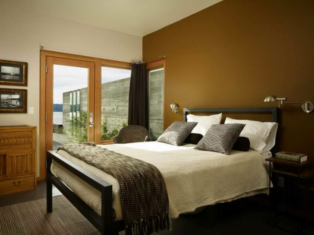 madera calida habitacion cojines diseño