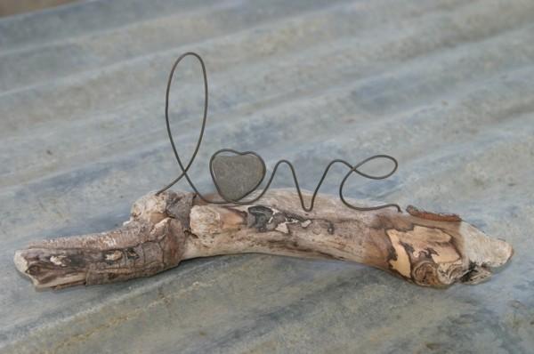 madera flotante adorno love amor